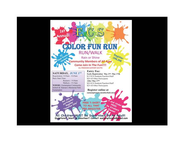1st Annual Color Fun Run - Don't Miss It!